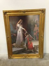 The Accolade by Edmund Blair Leighton - Large, Beautiful, and Framed in Tomball, Texas