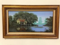 "Original Oil Painting ""Boat House"" by Joyce Ethridge in The Woodlands, Texas"